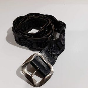 Levis black leather belt